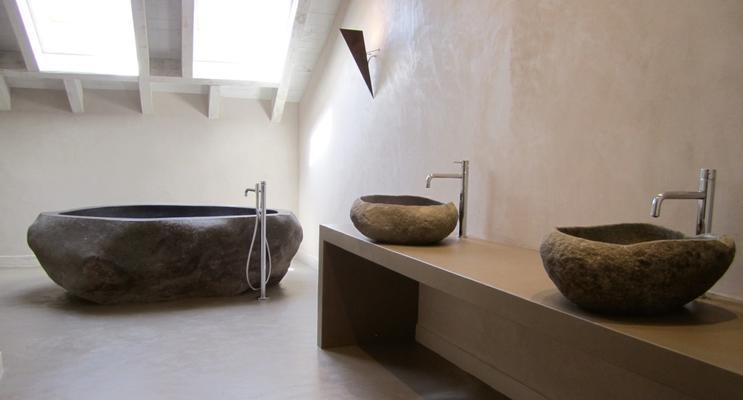 Betonisart reformas de ba os y lavabos con cemento pulido for Pared cemento pulido