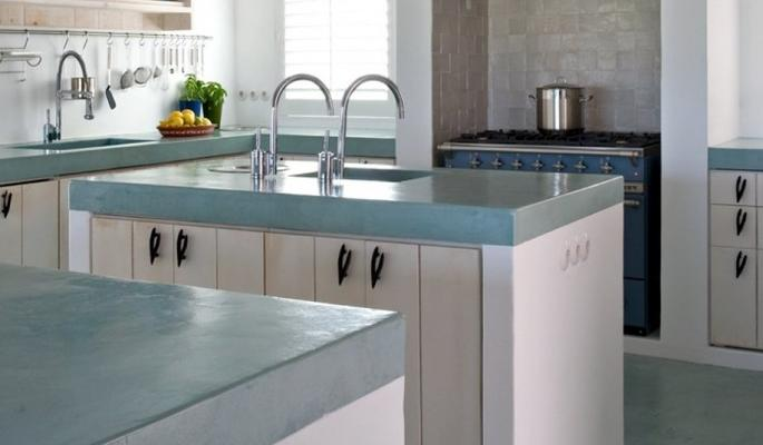 Cocinas empotradas en concreto pulido for Cocinas de concreto