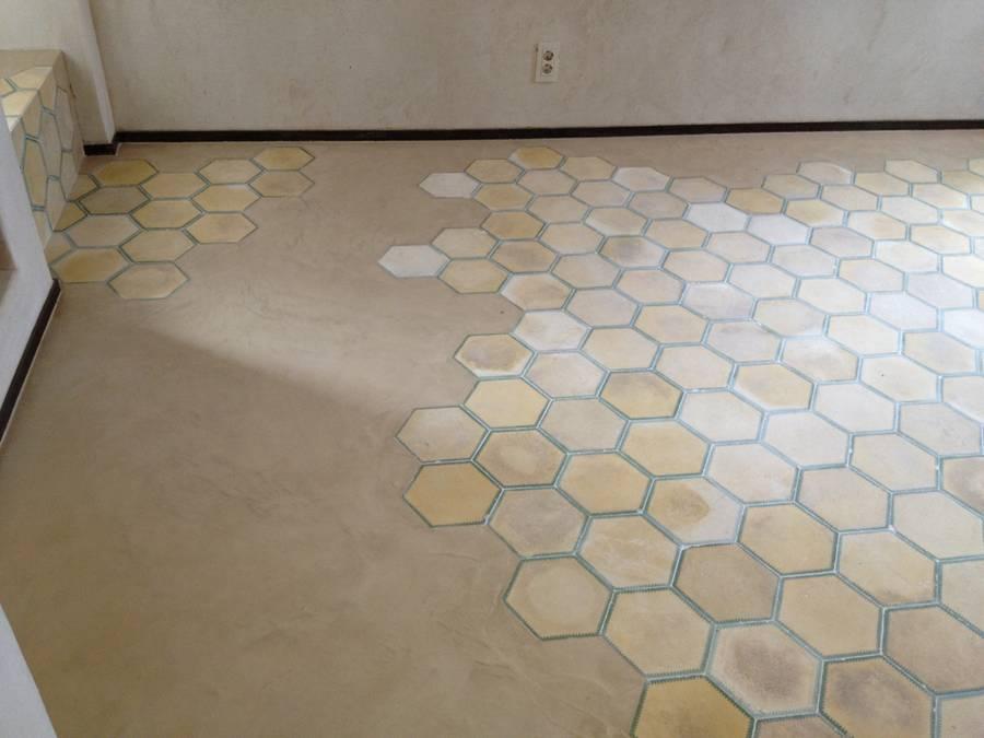 suelo de cemento pulido