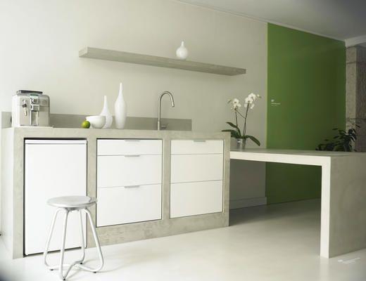 Betonisart construcci n y recubrimiento de cocinas con for Desayunadores de concreto
