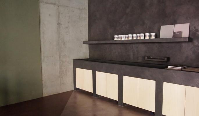 Betonisart construcci n y recubrimiento de cocinas con for Cocinas hechas de cemento